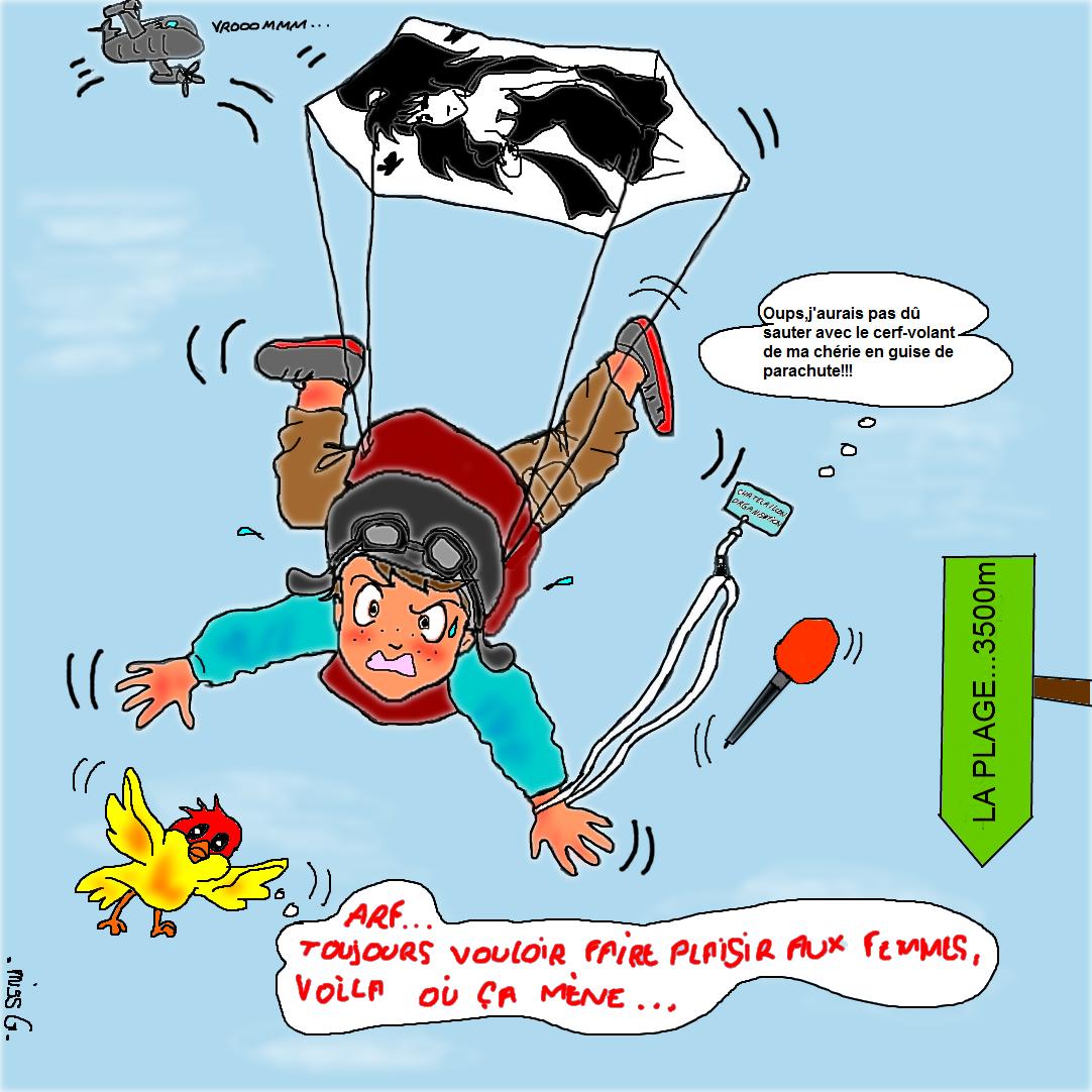saut en parachute humour